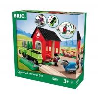 Деревянная железная дорога Загородная лошадиная ферма BRIO 33790