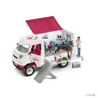 Ветеринарный фургон с ганноверским жеребенком Schleich 42370