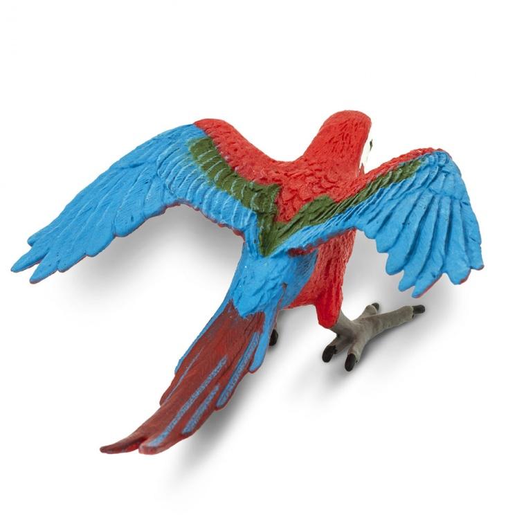 Птица Зелено-крылый попугай ара Safari Ltd 263929