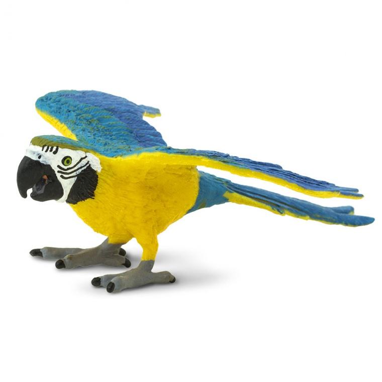 Птица Сине-жёлтый попугай ара Safari Ltd 264029