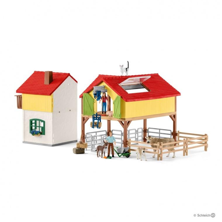 Набор Ферма с хлевом и животными Schleich 42407